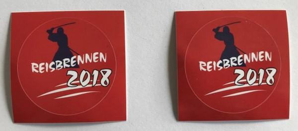 Reisbrennen 2018 Sticker 2er Set