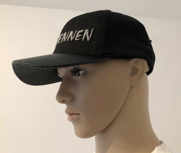 Reisbrennen Cap Black/Carbon Schrift