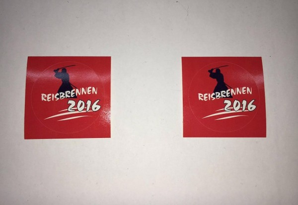 Reisbrennen 2016 Sticker 2er Set